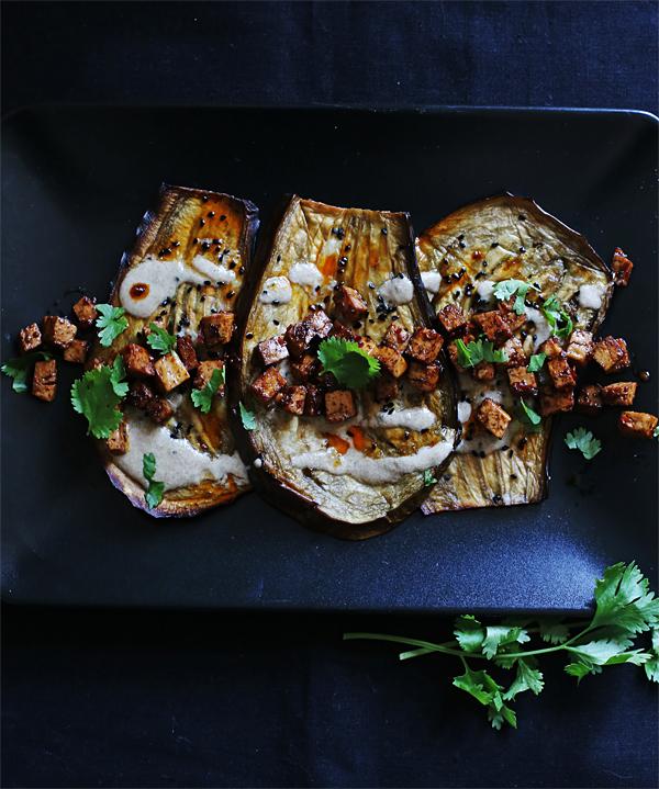 Auberginen mit Tahin und Tofu_2